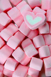 Marshmallow Hearts Stock Photos