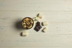 Marshmallow i czekolada Fotografia Royalty Free