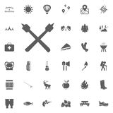 Marshmallow icon. Camping and outdoor recreation icons set.  Royalty Free Stock Photos
