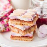Marshmallow Jam Slice Royalty Free Stock Image