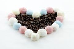 Marshmallow kawa i rękodzieło Zdjęcie Royalty Free