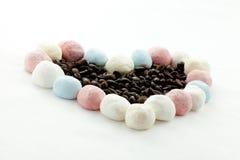 Marshmallow kawa i rękodzieło Obrazy Royalty Free