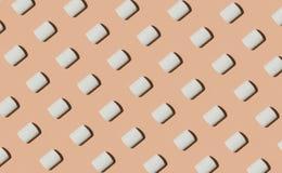 Marshmallow koloru wzoru tło fotografia stock