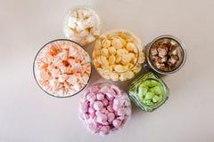 Marshmallow and meringue Stock Photos