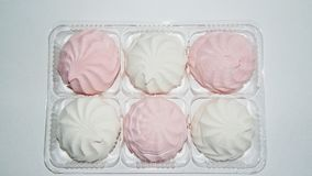 Marshmallow, Meringue,zephyr Stock Images