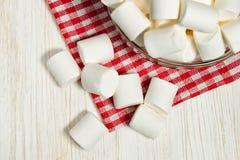 Marshmallow na talerzu Obrazy Royalty Free