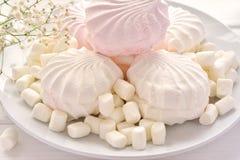 Marshmallow na variedade em uma placa Fotos de Stock