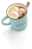 Marshmallow och kaffe Royaltyfri Foto