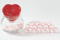 Marshmallow odizolowywa na białym tle Zdjęcia Stock