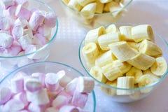 Marshmallow Pastel, em borracha fotografia de stock