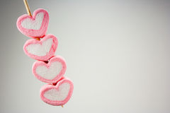 Marshmallow pink heart. Stock Photo