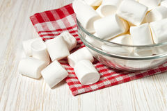 Marshmallow on a plate Royalty Free Stock Photos