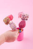 Marshmallow pops Stock Photos