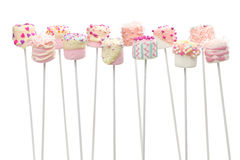 Marshmallow pops Royalty Free Stock Photography