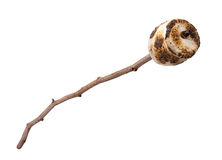 Marshmallow Roasted em uma vara Fotografia de Stock Royalty Free
