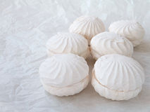 Marshmallow roses Royalty Free Stock Photography