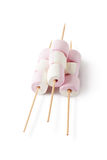 Marshmallow on the skewers Stock Photos