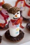 Marshmallow Snowman Royalty Free Stock Photo