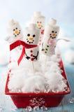 Marshmallow snowmen Stock Image