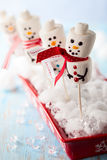 Marshmallow snowmen Royalty Free Stock Images