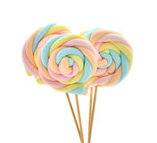 Marshmallow on a stick Stock Photos