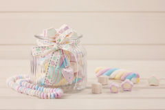 Marshmallow sweets Stock Images
