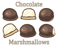 Marshmallow symbols Royalty Free Stock Photo