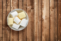 Marshmallow on table Royalty Free Stock Image