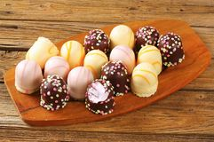 Marshmallow teacakes Stock Photo