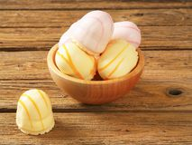 Marshmallow teacakes Stock Images
