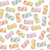 Marshmallow twists seamless pattern vector illustration. vector illustration