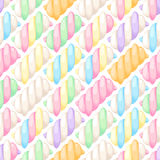 Marshmallow twists seamless pattern vector illustration. stock illustration