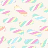Marshmallow twists seamless pattern vector illustration. royalty free illustration