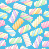 Marshmallow twists seamless pattern vector illustration. Royalty Free Stock Photo