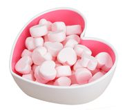 Marshmallow for Valentine Day Royalty Free Stock Image