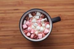 Marshmallow w kubku z kakao Zdjęcia Royalty Free