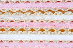 Marshmallow wafers Stock Photo