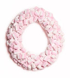 Marshmallow wreath Stock Photography