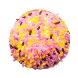 Marshmallowkaka med färgrika Sugar Sprinkles Arkivbild