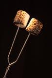 marshmallows έψησαν δύο Στοκ εικόνες με δικαίωμα ελεύθερης χρήσης