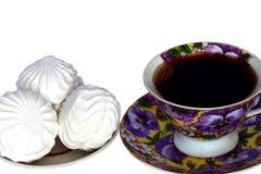 Marshmallows και καφές Στοκ Φωτογραφία