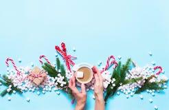 Marshmallows καρδιών έννοιας ζωηρόχρωμα μίνι τρόφιμα Στοκ Εικόνα