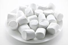 marshmallows πιάτο Στοκ εικόνα με δικαίωμα ελεύθερης χρήσης