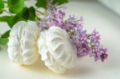 Marshmallows στο λευκό Στοκ Εικόνες