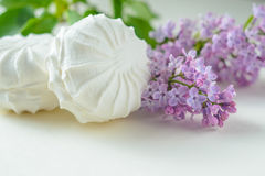 Marshmallows στο λευκό Στοκ εικόνες με δικαίωμα ελεύθερης χρήσης