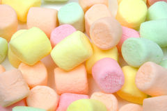 Marshmallows. Coloured mini marshmalloes stock photos