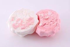 Marshmallows. On the white background Royalty Free Stock Photo
