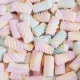 Marshmallows background. A delicious multicolored marshmallows background stock photo