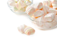 Marshmallows in the Bowl Stock Photos
