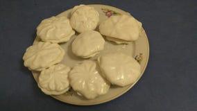 Marshmallows brancos feitos à mão feitos a si próprio fotos de stock royalty free